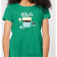 Infographic White Russian Women's T-Shirt - Kelly Green - L - Kelly Green