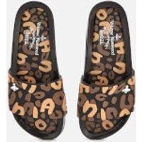 Vivienne Westwood for Melissa Women's Leopard Beach Slide Sandals - Black Contrast - UK 4 - black/br