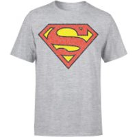 Originals Official Superman Crackle Logo Men's T-Shirt - Grey - XXL - Grey