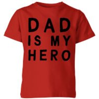 My Little Rascal Dad Is My Hero Kids' T-Shirt - Red - 11-12 Years - Red - Dad Gifts