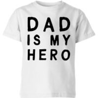 My Little Rascal Dad Is My Hero Kids' T-Shirt - White - 11-12 Years - White - Dad Gifts
