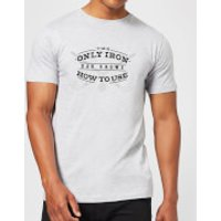 Dad's Only Iron Men's T-Shirt - Grey - S - Grey