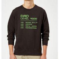 Dad Level Up Sweatshirt - Black - S - Black
