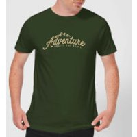Adventure Awaits The Brave Men's T-Shirt - Forest Green - XXL - Forest Green - Adventure Gifts