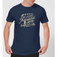 Every Journey Begins With A Single Step Men's T-Shirt - Navy - L - Navy
