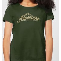 Adventure Awaits The Brave Women's T-Shirt - Forest Green - XXL - Forest Green - Adventure Gifts