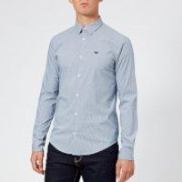 Emporio Armani Men's Slim Stripe Fit Shirt - Navy Stripe - M
