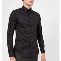 Emporio Armani Men's Slim Stripe Fit Shirt - Black - L
