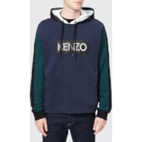 KENZO Men's Double Front Logo Hoody - Ink - L - Blue