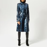 Marc-Jacobs-Womens-Trench-Coat-Blue-US-4UK-8-Blue