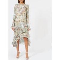 Preen-By-Thornton-Bregazzi-Womens-Doris-Dress-Nude-Plastic-Floral-L-Multi