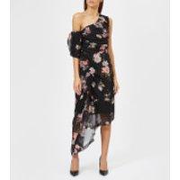 Preen-By-Thornton-Bregazzi-Womens-Ada-Dress-Grid-Floral-S-Multi