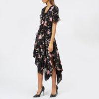 Preen-By-Thornton-Bregazzi-Womens-Clara-Dress-Black-Plastic-Foxglove-L-Black