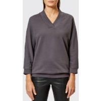 KENZO-Womens-Light-Cotton-Molleton-Sweatshirt-Grey-M-Grey