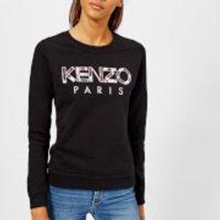 KENZO Women's Light Cotton Molleton Logo Sweatshirt - Black - XS - Black