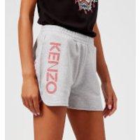 KENZO Women's Light Cotton Molleton Shorts - Light Grey - XS - Grey