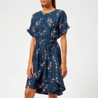 Kenzo Cheongsam Flower Dress - Navy Blue