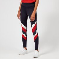 Tommy Hilfiger Womens Athleisure Elana Leggings - Navy/Red - M - Navy/Red