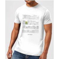 Bobs Burgers Street Plan Drawing Men's T-Shirt - White - 5XL - White - Drawing Gifts