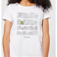 Bobs Burgers Street Plan Drawing Women's T-Shirt - White - 5XL - White - Drawing Gifts