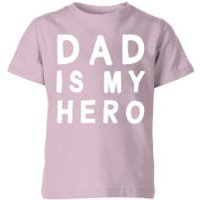 My Little Rascal Dad Is My Hero - Baby Pink Kids' T-Shirt - 9-10 Years - Baby Pink - Baby Gifts