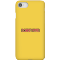 Funda móvil Nintendo Donkey Kong Logo para iPhone y Android - iPhone 8 - Carcasa rígida - Brillante