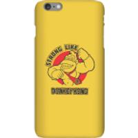 Nintendo Donkey Kong Strong Like Donkey Kong Phone Case - iPhone 6 Plus - Snap Case - Matte - Donkey Gifts