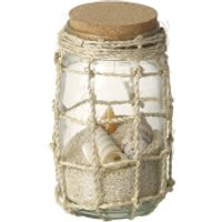 Parlane Glass Jar With Shells - Glass Gifts