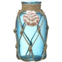 Parlane Seashell Blue Glass Vase - Glass Gifts