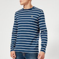Lacoste Men's Long Sleeve Breton Stripe T-Shirt - Matelot Chine/Flour - 6/XL - Blue/White