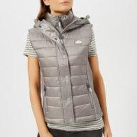 Superdry Women's Luxe Fuji Double Zip Vest - Comet Silver - M - Grey