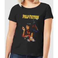 Pulp Fiction Poster Women's T-Shirt - Black - XXL - Black - Poster Gifts