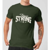 Stay Strong Logo Men's T-Shirt - Forest Green - M - Forest Green
