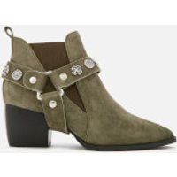 Sol Sana Women's Bruno Suede Western Heeled Boots - Olive - UK 3 - Green