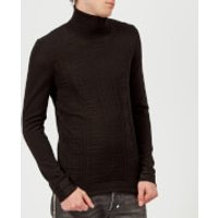 Versace Collection Mens Roll Neck Knit Jumper - Nero - M - Black