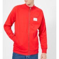 Calvin Klein Jeans Mens Track Zip Through Jacket - Tomato - M - Red