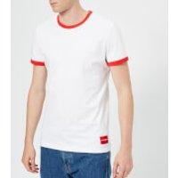 Calvin Klein Jeans Men's Authentic Ringer Slim T-Shirt - Bright White - M - White