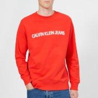 Calvin Klein Jeans Men's Institutional Logo Sweatshirt - Tomato - S - Red