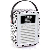 VQ Retro Mini DAB & DAB+ Digital Radio with FM, Bluetooth and Alarm Clock - Lulu Guinness Black Lips - Lulu Guinness Gifts
