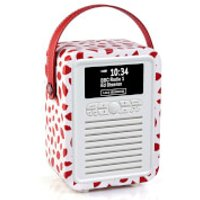 VQ Retro Mini DAB & DAB+ Digital Radio with FM, Bluetooth and Alarm Clock - Lulu Guinness Red Lips - Lulu Guinness Gifts