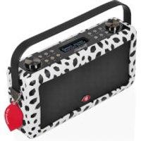 VQ Hepburn Mk II DAB & DAB+ Digital Radio with FM, Bluetooth & Alarm Clock - Lulu Guinness Black Lips - Lulu Guinness Gifts