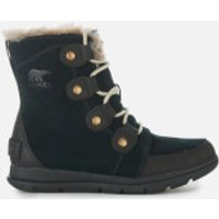Sorel Women's Explorer Joan Hiker Style Boots - Black Dark Stone - UK 3