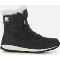 Sorel Womens Whitney Short Lace Boots - Black - UK 3 - Black
