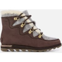 Sorel Women's Sneakchic Alpine Hiker Style Boots - Cattail - UK 4 - Brown