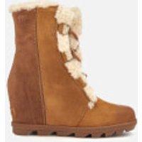 Sorel Women's Joan of Arctic II Shearling Wedged Boots - Camel Brown - UK 3 - Tan