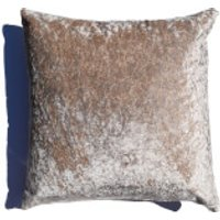 Rapport Crushed Velvet Cushion - Champagne