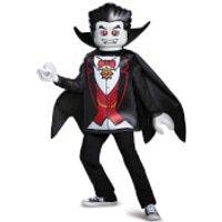 LEGO Iconic Kids Vampire Classic Halloween Fancy Dress - Black - S/4-6 Years - Negro