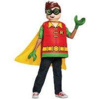 LEGO Batman Movie Kids Robin Classic Fancy Dress - Red/Green - S/4-6 Years - Red/Green