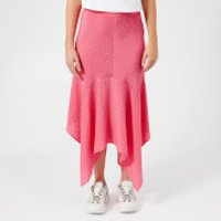 Ganni Women's Lynch Seersucker Skirt - Hot Pink - EU 40/UK 12 - Pink