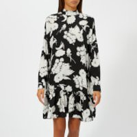 Ganni-Womens-Kochhar-Print-Dress-Black-EU-36UK-8-Black